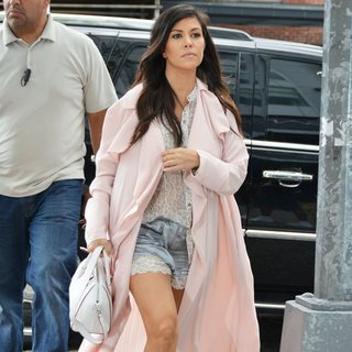 Kourtney Kardashian in The Kardashians Filming in New York