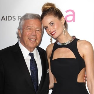 Robert Kraft, Ricki Noel Lander in 21st Annual Elton John AIDS Foundation's Oscar Viewing Party