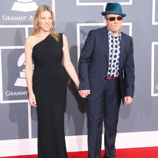 Diana Krall, Elvis Costello in 54th Annual GRAMMY Awards - Arrivals