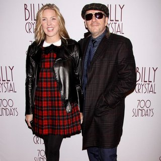 Diana Krall, Elvis Costello in Opening Night of Broadway's 700 Sundays - Arrivals