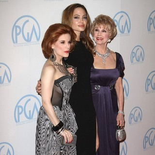 Kat Kramer, Angelina Jolie, Karen Sharpe in The 23rd Annual Producers Guild Awards - Arrivals