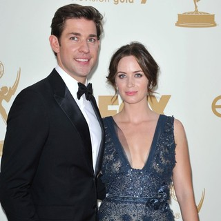 John Krasinski, Emily Blunt in The 63rd Primetime Emmy Awards - Arrivals