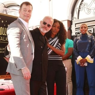 Peter Krause, Ryan Murphy, Angela Bassett, NeNe Leakes in Ryan Murphy Is Honoured with A Star on The Hollywood Walk of Fame
