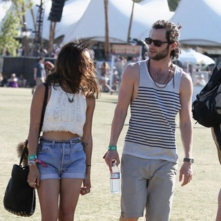 Zoe Kravitz, Penn Badgley in Celebrities at The 2012 Coachella Valley Music and Arts Festival - Week 2 Day 3