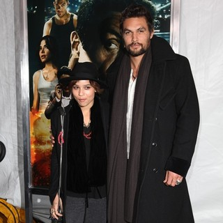 Zoe Kravitz, Jason Momoa in New York Premiere of Bullet to the Head