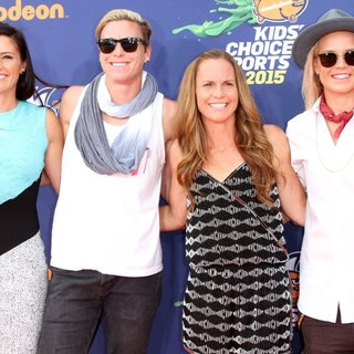 Ali Krieger, Abby Wambach, Christie Rampone, Ashlyn Harris in Nickelodeon Kids' Choice Sports 2015 Awards - Arrivals