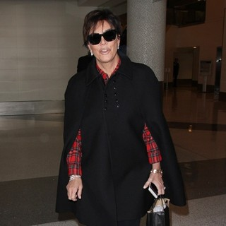 Kris Jenner Arives at Los Angeles International Airport