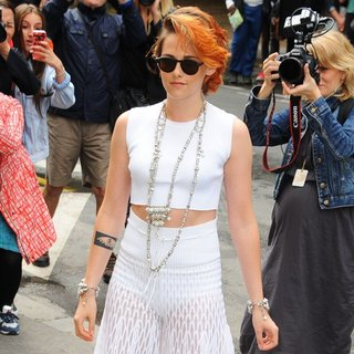 Kristen Stewart in Paris Fashion Week Haute Couture Fall-Winter 2014-2015 - Chanel - Outside Arrivals
