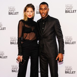 Doutzen Kroes, Sunnery James in New York City Ballet 2013 Fall Gala