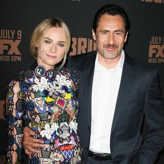 Diane Kruger, Demian Bichir in FX's The Bridge Premiere