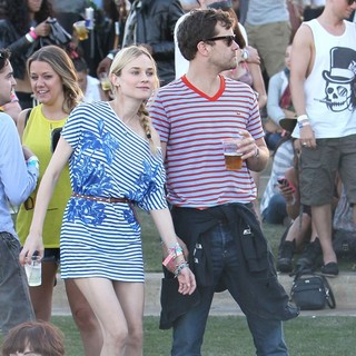Diane Kruger, Joshua Jackson in Celebrities at The 2012 Coachella Valley Music and Arts Festival - Day 3
