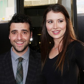 David Krumholtz, Vanessa Britting in HBO's The Newsroom Los Angeles Premiere