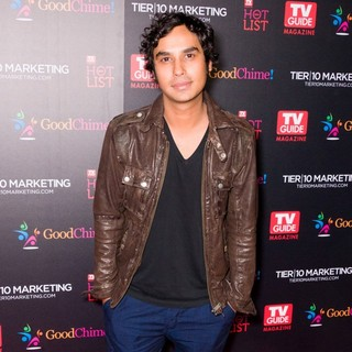 Kunal Nayyar in TV Guide Magazine's Annual Hot List Party