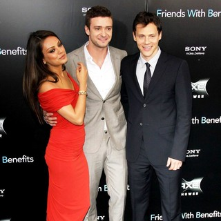 Mila Kunis, Justin Timberlake, Will Gluck in New York Premiere of Friends with Benefits - Arrivals