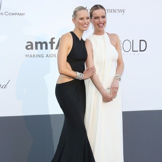 Karolina Kurkova, Eva Herzigova in 66th Cannes Film Festival - amfAR's 20th Annual Cinema Against AIDS - Arrivals