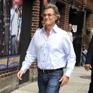 Kurt Russell Arrives for The Late Show with David Letterman