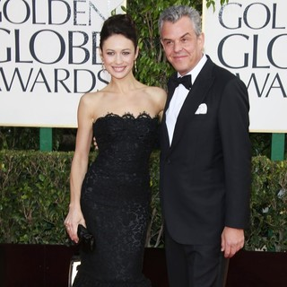 Olga Kurylenko, Danny Huston in 70th Annual Golden Globe Awards - Arrivals