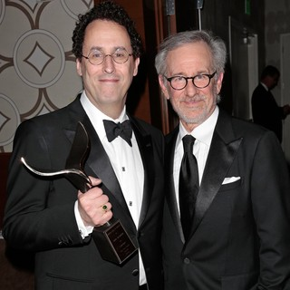 Tony Kushner, Steven Spielberg in 2013 Writers Guild Awards - Press Room