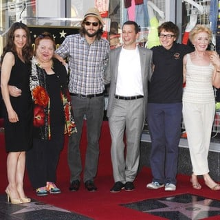 Conchata Ferrell, Ashton Kutcher, Jon Cryer, Angus T. Jones, Holland Taylor in Jon Cryer Is Honored with A Hollywood Star