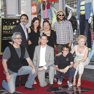 Chuck Lorre, Conchata Ferrell, Jon Cryer, Ashton Kutcher, Angus T. Jones, Holland Taylor in Jon Cryer Is Honored with A Hollywood Star