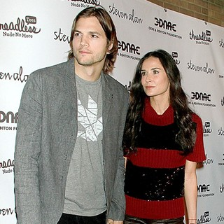Ashton Kutcher, Demi Moore in The DNA Foundation Launch Interactive Online Campaign Real Men Don't Buy Girls Launch Party