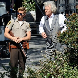Ryan Kwanten, Rutger Hauer in Actors on The Set of True Blood