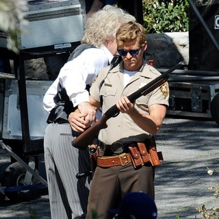 Rutger Hauer, Ryan Kwanten in Actors on The Set of True Blood