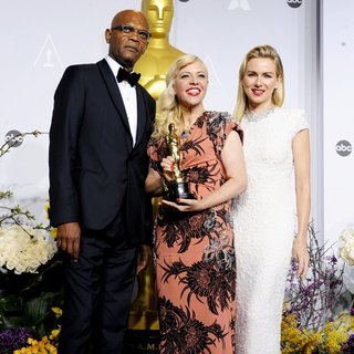 Samuel L. Jackson, Catherine Martin, Naomi Watts in The 86th Annual Oscars - Press Room
