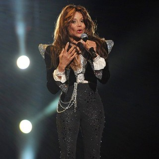 La Toya Jackson in Michael Jackson Tribute Concert Held at The Cardiff Millenium Stadium