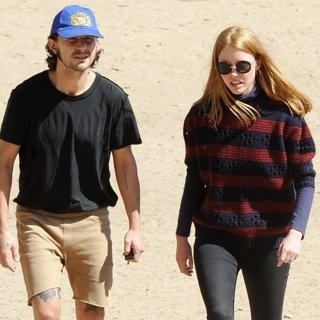 Shia LaBeouf - Shia LaBeouf and Mia Goth Out at A Park