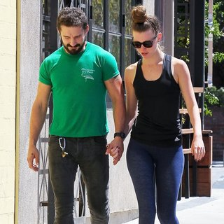 Shia LaBeouf, Mia Goth in Shia LaBeouf and Mia Goth Spotted Out in Studio City