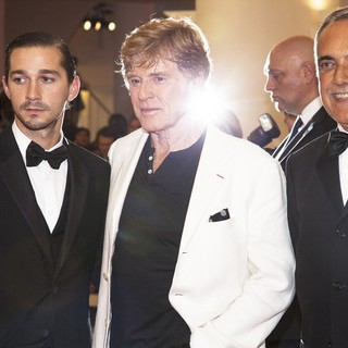 Shia LaBeouf, Robert Redford, Alberto Barbera in The 69th Venice Film Festival - The Company You Keep - Premiere - Red Carpet