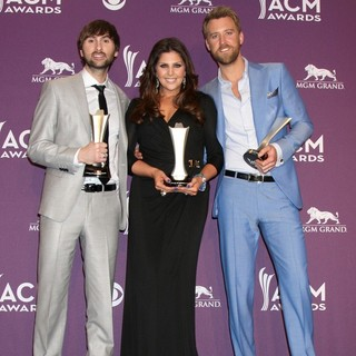 Lady Antebellum in 2012 ACM Awards - Press Room