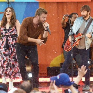 Lady Antebellum Performing for Good Morning America 2017 Summer Concert Series