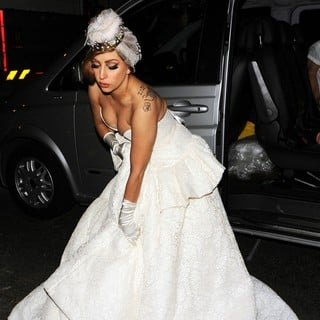 Lady GaGa in The 2012 Paralympic Games Afterparty - Arrivals