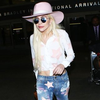 Lady GaGa Arrives at LAX