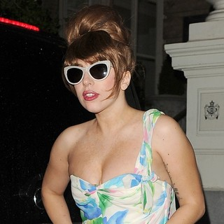 Lady GaGa in Lady GaGa Arriving Back at Her Hotel