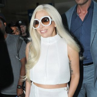 Lady GaGa at Los Angeles International Airport