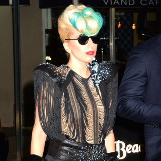Lady GaGa in Lady GaGa Attending Stings Birthday Rainforest Gala