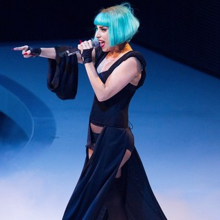 Lady GaGa in The Season Finale of ProSieben TV Show Germany's Next Topmodel 2011