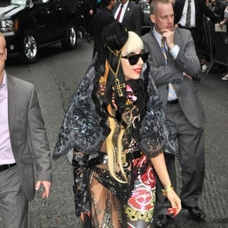 Lady GaGa in The Late Show with David Letterman - Arrivals