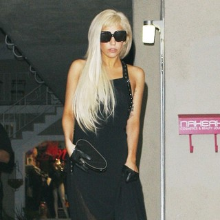 Lady GaGa in Lady GaGa Leaves A Recording Studio in Hollywood at 1AM and Signs Autographs for Her Waiting Fans