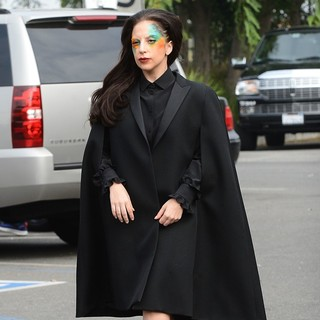 Lady GaGa in Lady GaGa Leaves The Amp Radio Studios