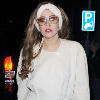 Lady GaGa in Lady GaGa Leaves Her Hotel Late at Night