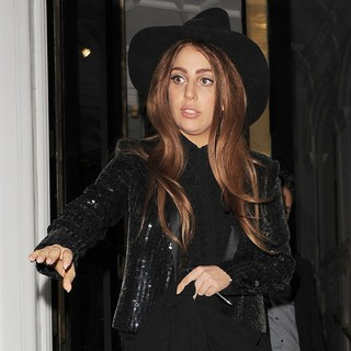 Lady GaGa in Lady GaGa Leaves The Ecuadorian Embassy at Midnight