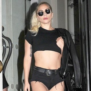 Lady GaGa Leaves The Langham Hotel