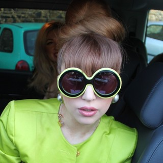 Lady GaGa in Lady GaGa Leaving Schlosshotel
