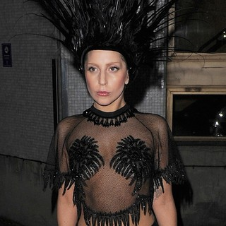 Lady GaGa in Lady GaGa Leaving The ITV Studios After Filming The Graham Norton Show