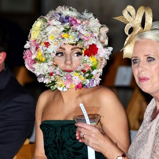 Lady GaGa in London Fashion Week Spring-Summer 2013 - Philip Treacy - Front Row