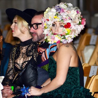 Lady GaGa - London Fashion Week Spring-Summer 2013 - Philip Treacy - Front Row